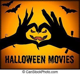 Halloween Movies Shows Horror Films And Cinema - Halloween ...