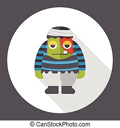 Halloween mummy flat icon