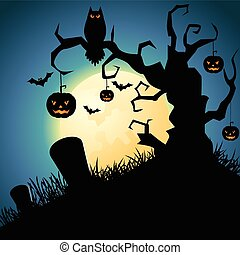 halloween nacht