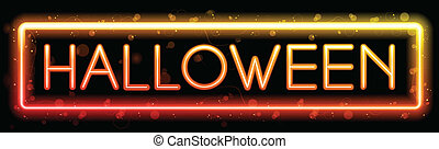 halloween, neon, fondo, festa