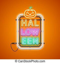 Halloween Neon Sign Orange
