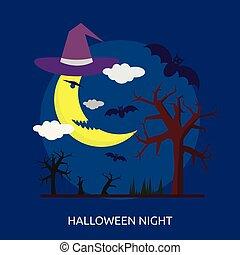 Halloween Night Conceptual illustration Design
