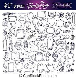 Halloween night doodles