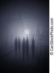 Halloween night ghosts