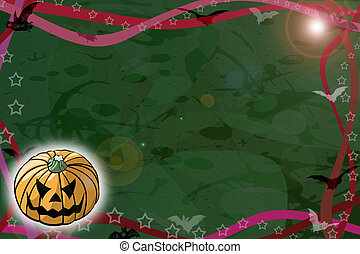 Halloween night - Green background