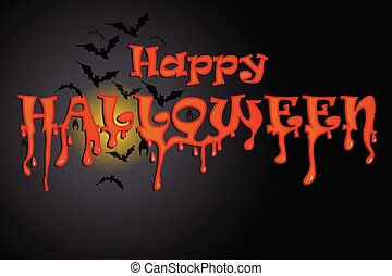 Halloween night party background