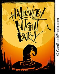 Halloween Night Party card