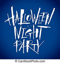Halloween Night Party lettering