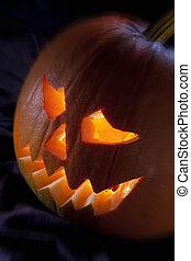 Halloween night pumpkin or Jack O Lantern