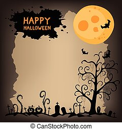 Halloween night scary background.