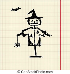 Halloween night symbol for your design