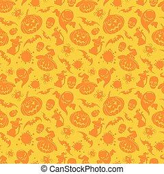 Halloween orange seamless pattern