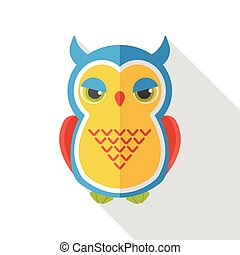 halloween owl flat icon