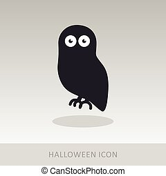Halloween owl icon