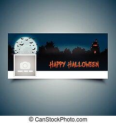 halloween, paisaje, timeline, cubierta, 2609