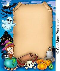 Halloween parchment 1