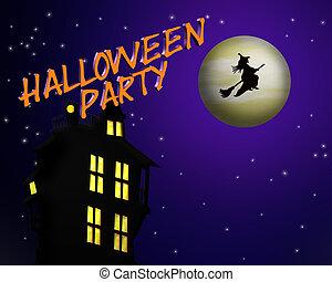 halloween partei, einladung