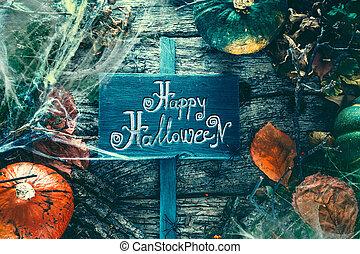 halloween, partie., invitation