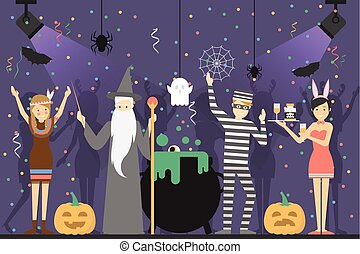 Halloween party at club.