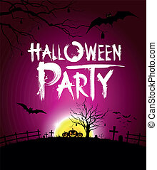 Halloween party at night background