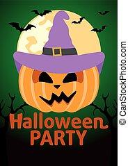 Halloween Party banner with Pumpkin
