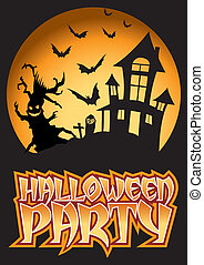 Halloween Party Bats Illustration