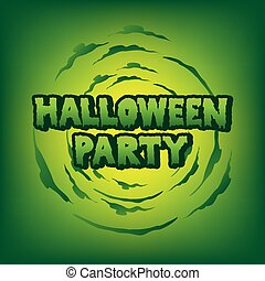 halloween party blood text