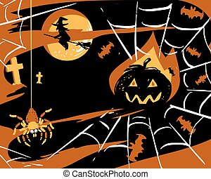 Halloween party card vector illustrration