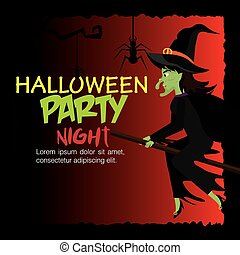 Halloween party design. - Halloween party design, vector...