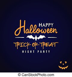 Halloween party flyer design.