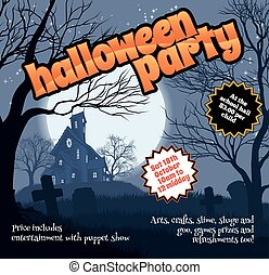 Halloween Party Flyer Leaflet