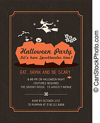 Halloween Party flyer Template - Halloween Party Invitation ...