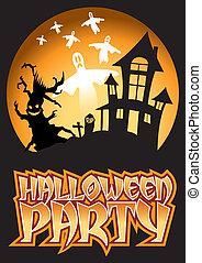 Halloween Party Ghost Illustration