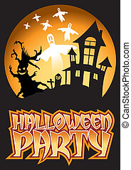 Halloween Party Ghost Illustration