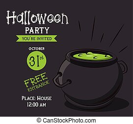 Halloween Party Invitation Card