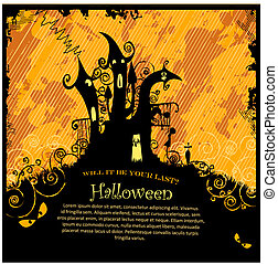 Halloween Party Invitation - Illustration of a scary ...