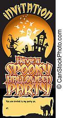 Halloween Party Invite Spooky