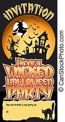 Halloween Party Invite Wicked