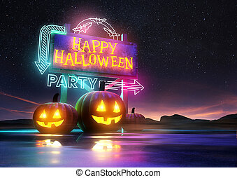 Halloween Party Neon Sign