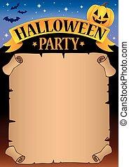 Halloween party parchment theme 1