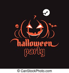 Halloween party poster. Halloween gothic font