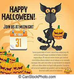 Halloween Party Poster - Halloween Party Graphic Poster ...