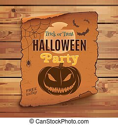 Halloween party poster.