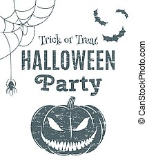 Halloween party poster template.