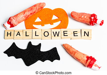 Halloween Party Props Decoration on a white background