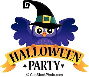 Halloween party sign theme image 2 - eps10 vector...