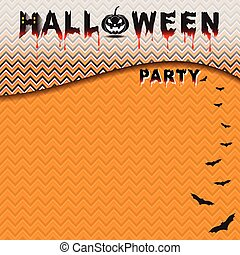 Halloween party with seamless pattern background
