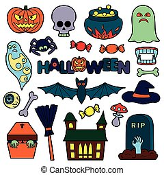 Halloween Patches Set