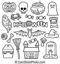 Halloween Patches Set