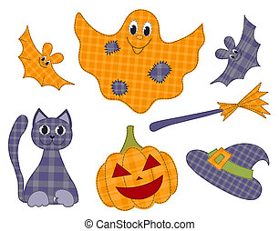 Halloween patchwork set